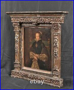 16th Century Old Master Portrait Of Mary Tudor, Queen of England (1516-1558)
