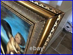 19TH CENTURY ANTIQUE OIL PAINTING Nude DIANA