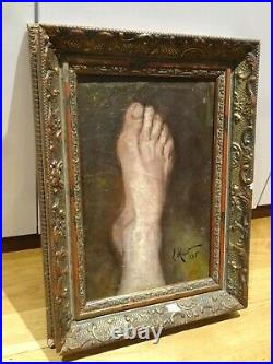 19th Century French Still Life Limb Foot Study Signed 1825 Theodore GÉRICAULT