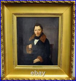 19th century Antique Russian Beautiful Oil Painting Portrait of Wealthy Nobleman