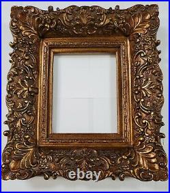 4 WIDE Antique Premium Gold Leaf Ornate Oil Painting Wood Picture Frame 8x10