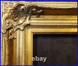 5 Antique Gold Leaf Ornate photo Oil Painting Wood Picture Frame 801G 30x40