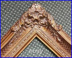 5 Bronze Picture Frame antique Gold Ornate photo museum Oil Painting Wood 255G