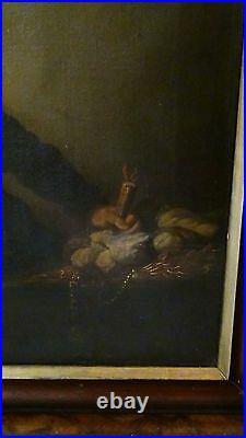 ANTIQUE 17c DUTCH OLD MASTER OIL REMBRANDT PERIOD PAINTING OF MERCHANT