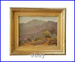 Antique 1930 Early California Mountain Desert Landscape Oil Painting American