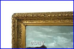 Antique 19th Century Oil Painting White Mountain School Landscape Forest