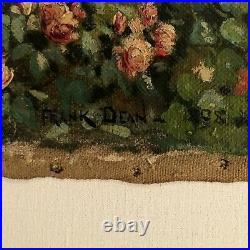 Antique Frank Dean Impressionist Oil Painting Of English Garden 1898