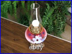 Antique Hand Painted VICTORIAN GONE WITH THE WIND PARLOUR LAMP GWTW Oil Lamp