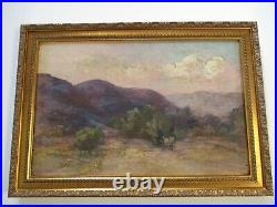 Antique Oil Painting Antique Old American Impressionist Landscape 1890's Mystery