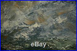 Antique Painting Impressive Seascape Ocean View Marina Vintage Abstract