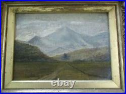 Antique Small Gem Impressionist Painting Landscape Mystery Artist 19th Century