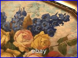 Antique/Vintage Roses Oil painting-beautiful, Pinks, Yellows And Blues