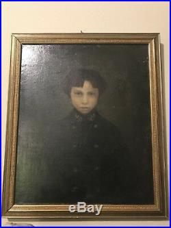 Extremely Old haunted Oil Painting Portrait Antique from France military