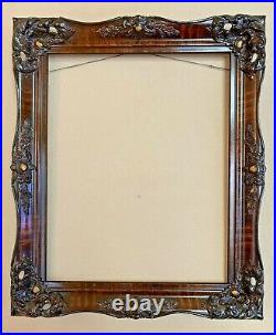 Gorgeous Antique Ornate Carved Wood Oil Painting Picture Frame 16X20 Old Vintage
