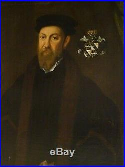 Huge 16th Century English Portrait of Sir Thomas Smythe (1514-1577) Hans HOLBEIN