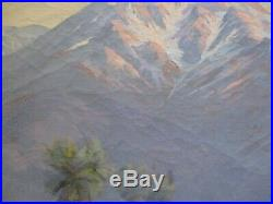 John Anthony Conner Painting Antique Early California Mt San Jacinto 24 By 30