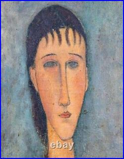 Large Early 20th Century Portrait Of A Woman Amedeo Modigliani (1884-1920)