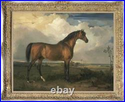 Old Master-Art Antique Oil Painting animal Portrait horse on canvas 30x40