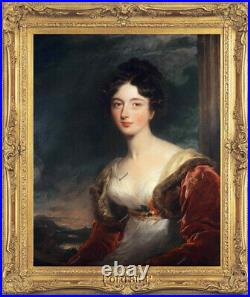 Old Master Art Antique Portrait of Lady Thomas Lawrence Oil Painting 30x40