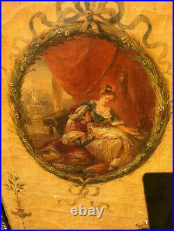 Screen Antique 18th Cent. Style Oil Painted