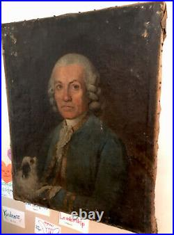 Stunning Antique 18th Century Portrait Painting Of a French Officer