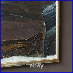 Swedish Abstract Oil On Canvas by Björn Blomberg, 1960's Vintage Painting