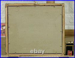 Unreadable Signed Guy Oil Painting Antique Impressionist Navy Sea Ships Sea