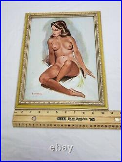Vintage Female Nude Oil Painting By Irving Meisel (1900-1986 NYC)